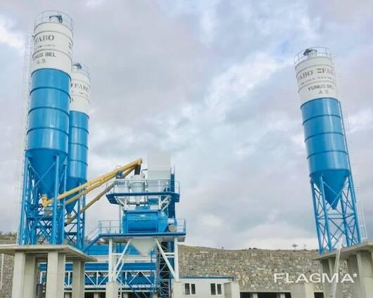 Бетонный завод. FABO- Powermix-200