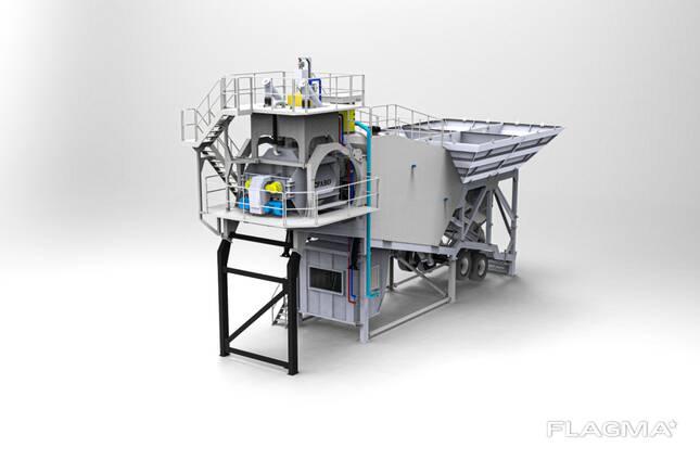 Мобильный Бетонный завод. FABO-Turbomix-60 Компакт