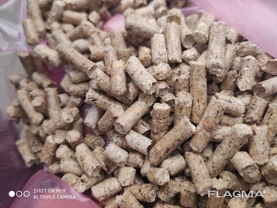 Пеллеты из сосны 6 мм и 8 мм